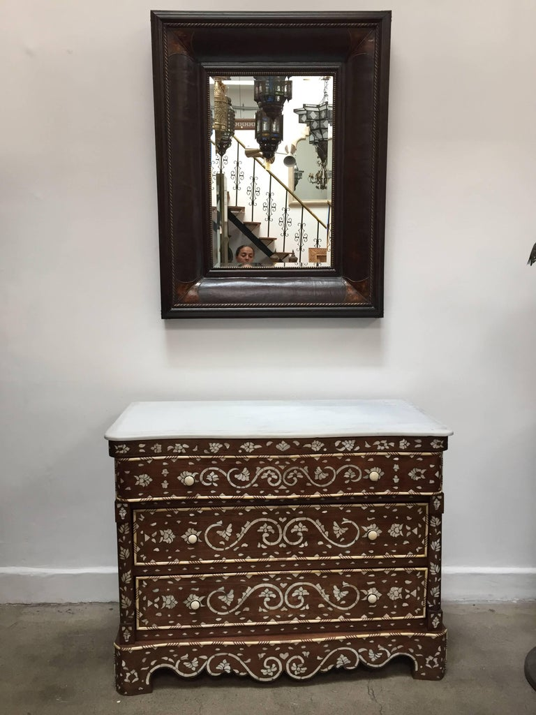 Pair of Moorish Chest of Drawers, Mother of Pearl Inlay Wedding Dressers For Sale 3