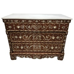 Pair of Moorish Chest of Drawers, Mother of Pearl Inlay Wedding Dressers