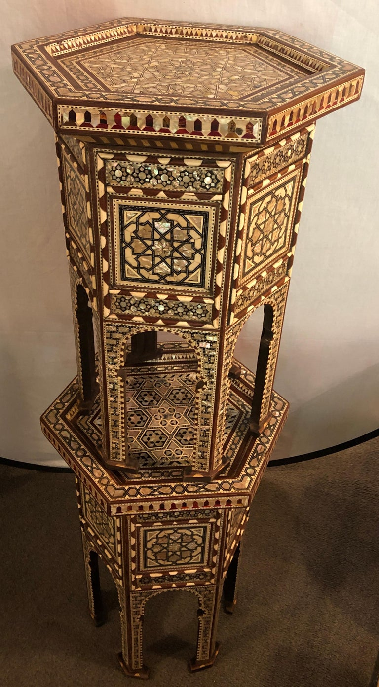 Pair of Syrian End Tables or Pedestals For Sale 5