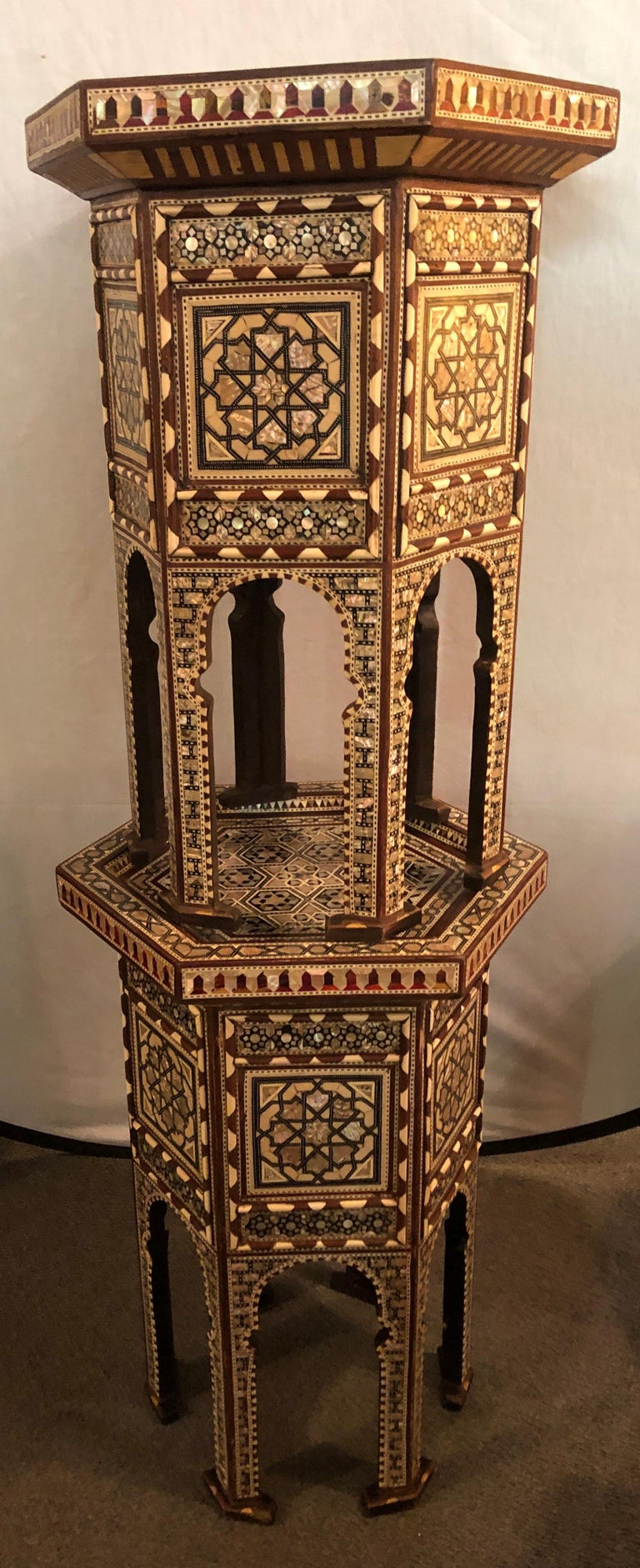 Pair of Syrian End Tables or Pedestals For Sale 6