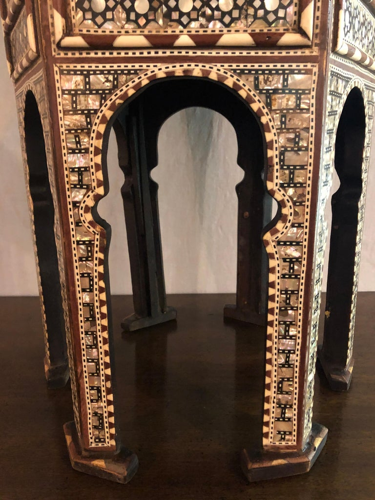 Mid-20th Century Pair of Syrian End Tables or Pedestals For Sale