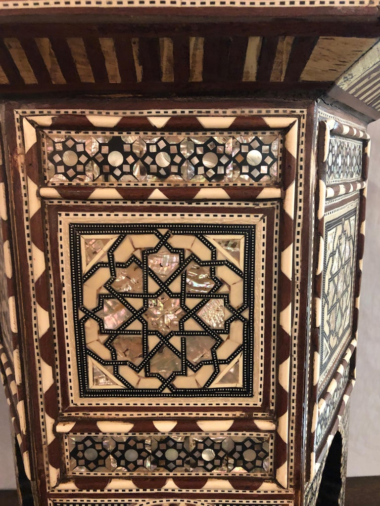 Pair of Syrian End Tables or Pedestals For Sale 1
