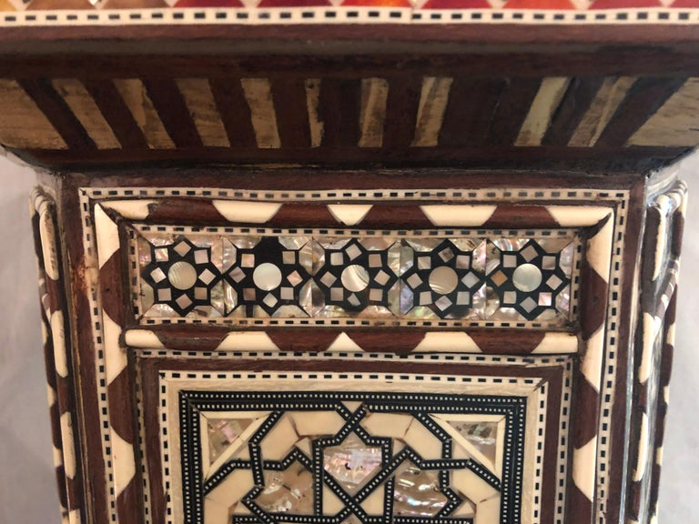 Pair of Syrian End Tables or Pedestals For Sale 2