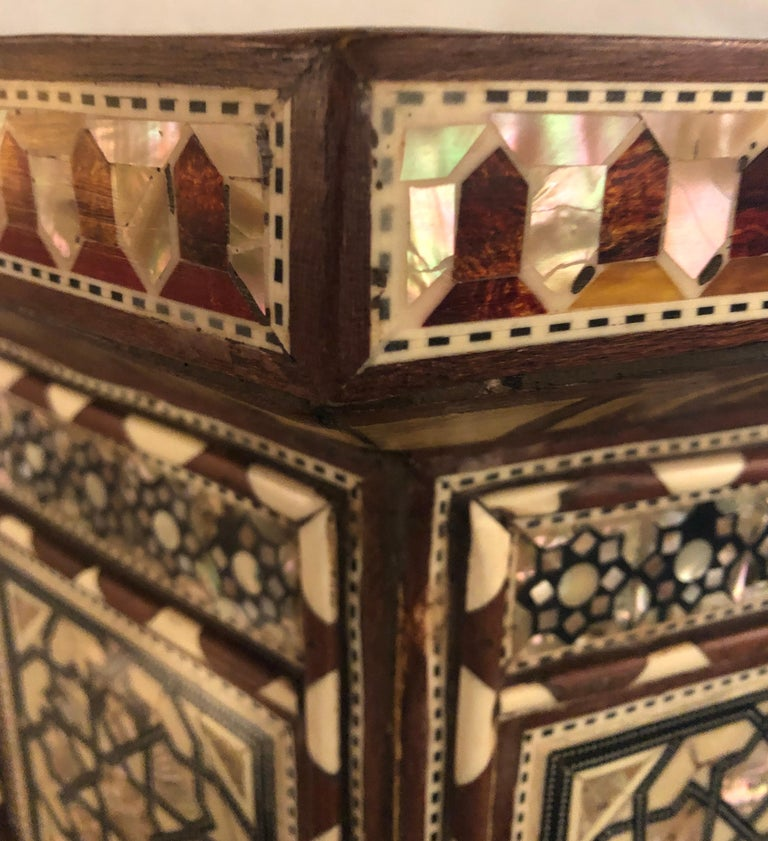 Pair of Syrian End Tables or Pedestals For Sale 3