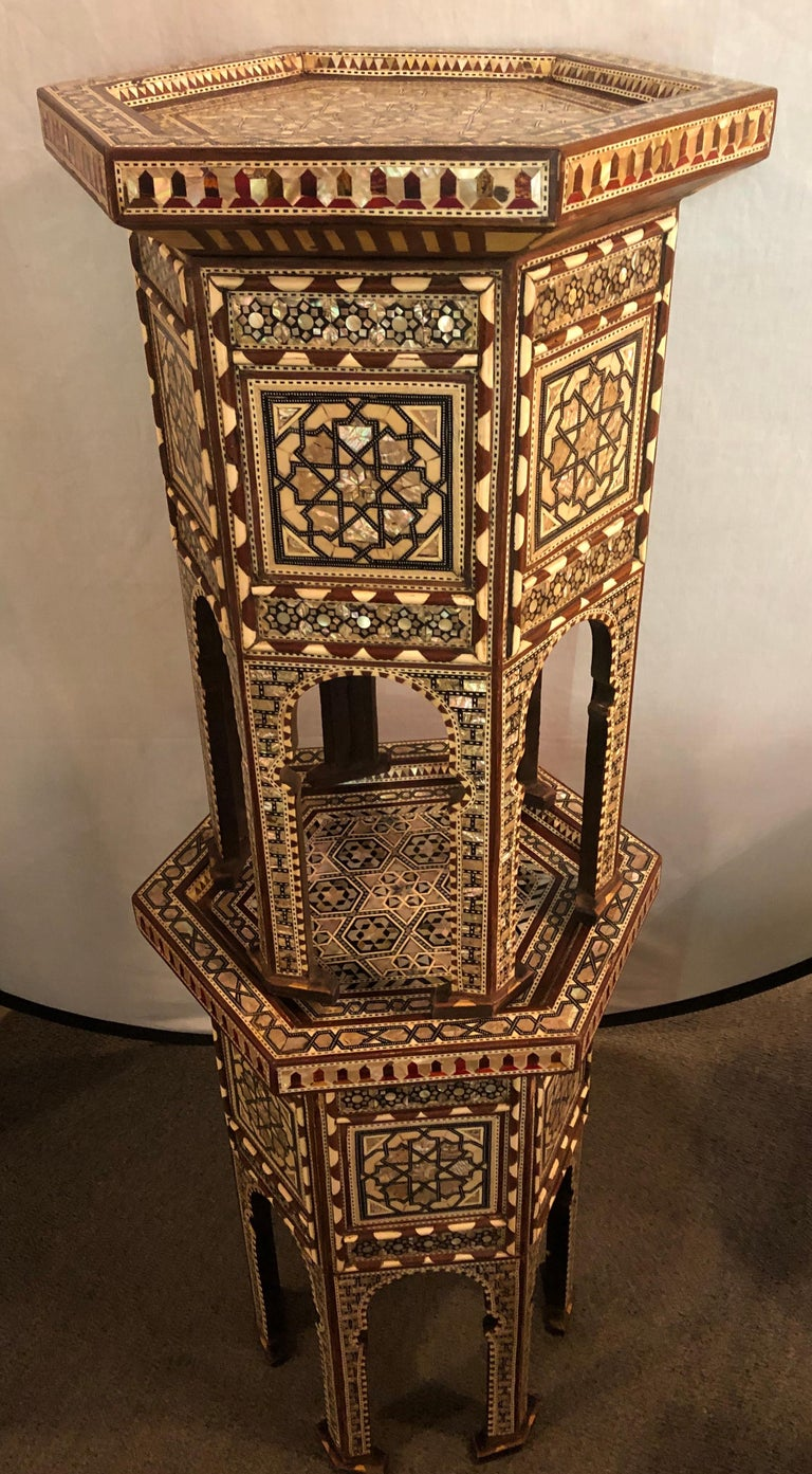 Pair of Syrian End Tables or Pedestals For Sale 4