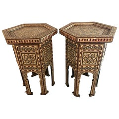 Pair of Syrian End Tables or Pedestals