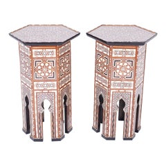 Pair of Syrian Inlaid Stands