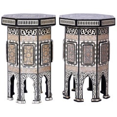 Pair of Syrian Inlaid Tables or Stands