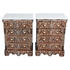 Pair of Syrian Mother of Pearl Inlay Nightstands