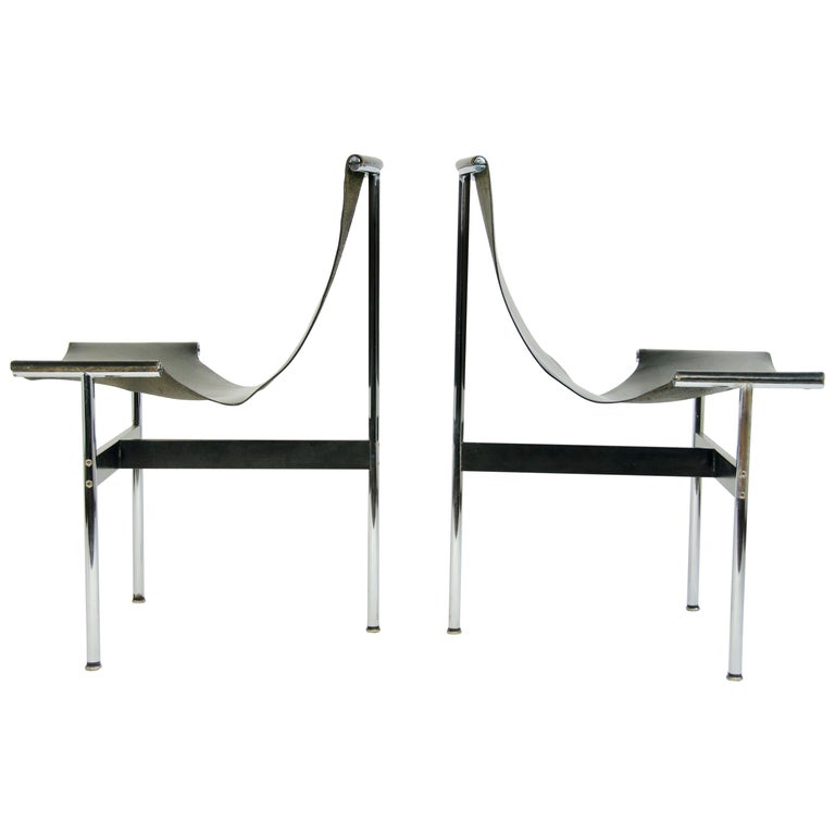 Pair of T-Chairs by William Katavolos Littell and Kelly For Sale