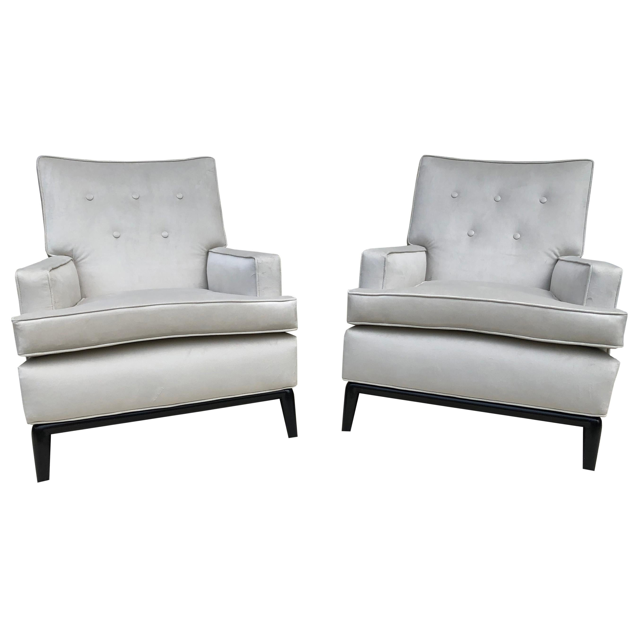 Pair of T-H Robsjohn Gibbings Club Chairs/ Lounge Chairs