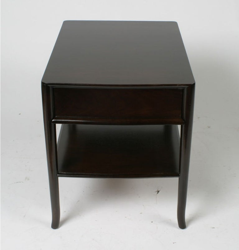 Mid-Century Modern Pair of T. H. Robsjohn-Gibbings End Tables or Nightstands For Sale