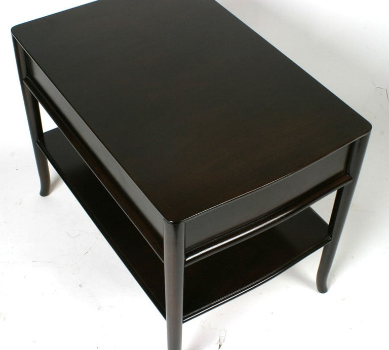 Pair of T. H. Robsjohn-Gibbings End Tables or Nightstands In Good Condition For Sale In St. Louis, MO