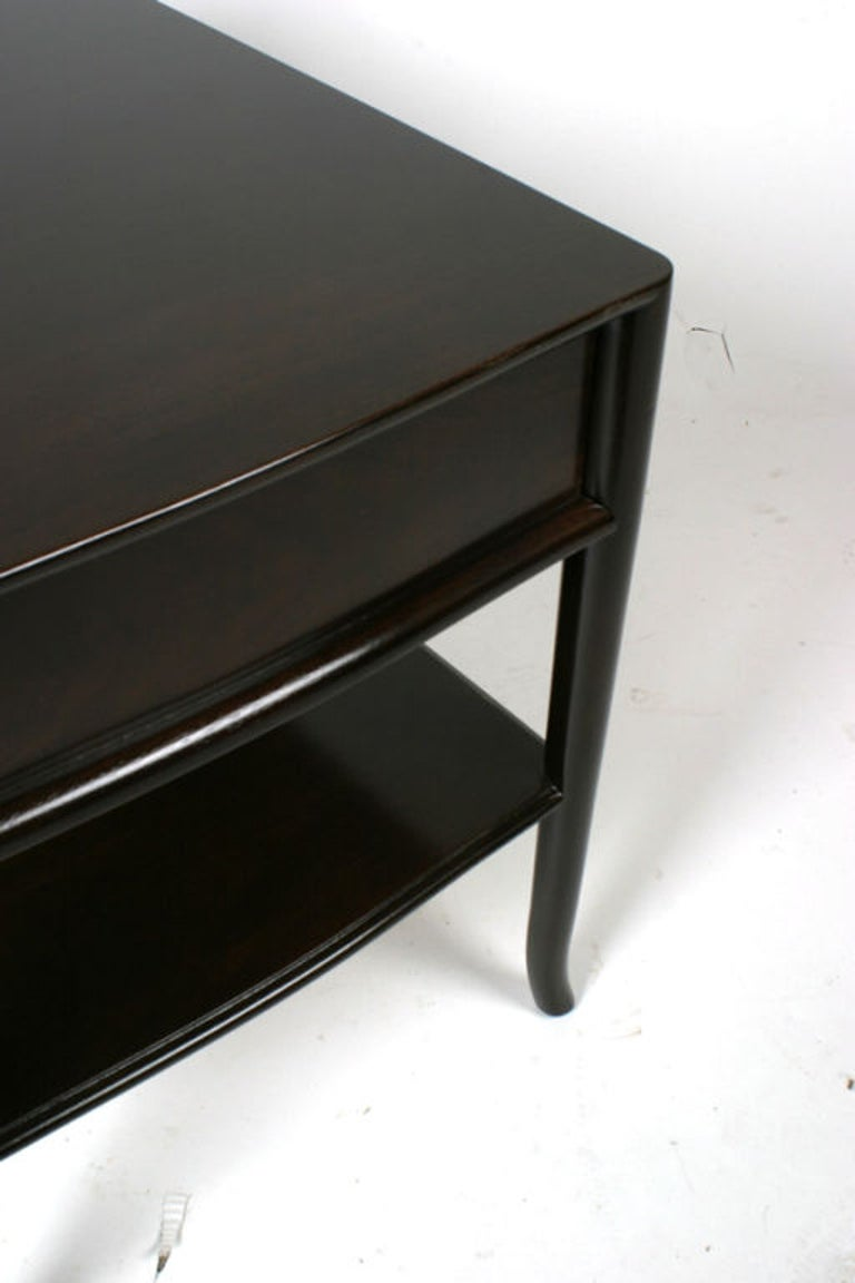 Mid-20th Century Pair of T. H. Robsjohn-Gibbings End Tables or Nightstands For Sale