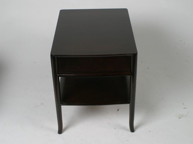 Pair of T. H. Robsjohn-Gibbings End Tables or Nightstands For Sale 1