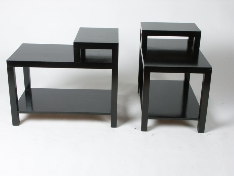 Pair of T. H. Robsjohn-Gibbings for Widdicomb End Tables In Good Condition For Sale In St. Louis, MO
