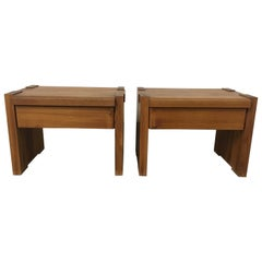 Pair of T38 Bedside Tables by Pierre Chapo