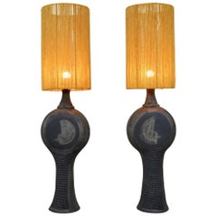 Pair of Table Lamp by Dominique Pouchain