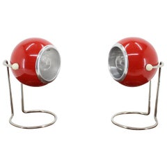 Pair of Table Lamp, Space Age, 1970s