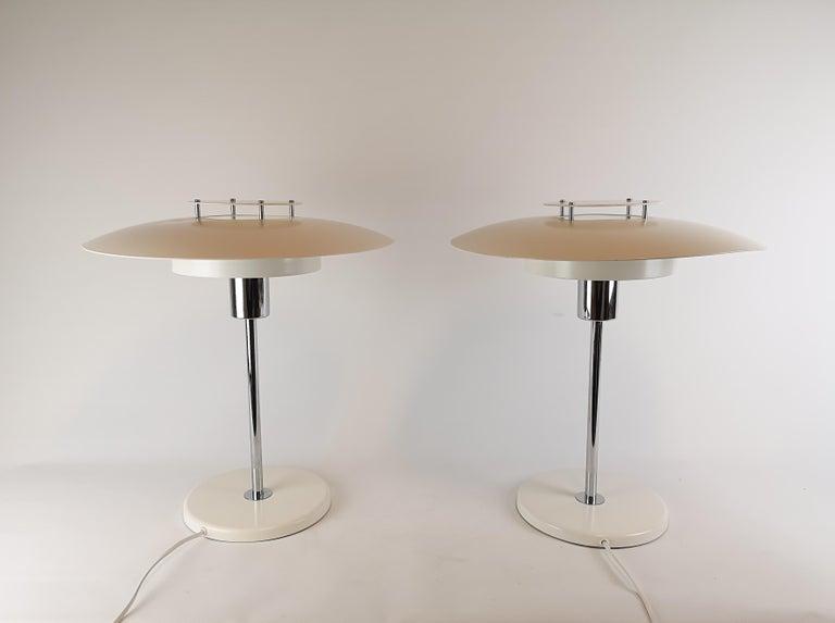 Scandinavian Modern Pair of Table Lamps