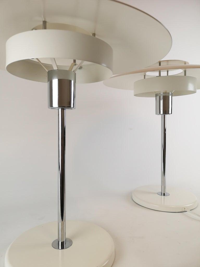 Metal Pair of Table Lamps