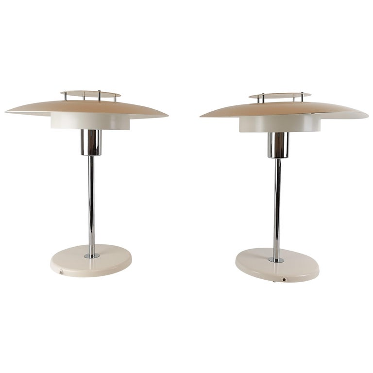 """Pair of Table Lamps """"Aurora"""" Borens, Sweden, 1970s For Sale"""