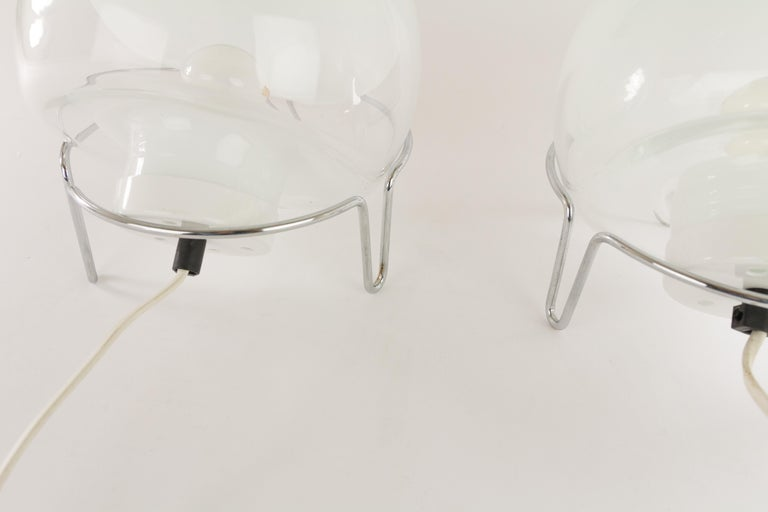 Italian Pair of Table Lamps by Angelo Mangiarotti for Skipper For Sale