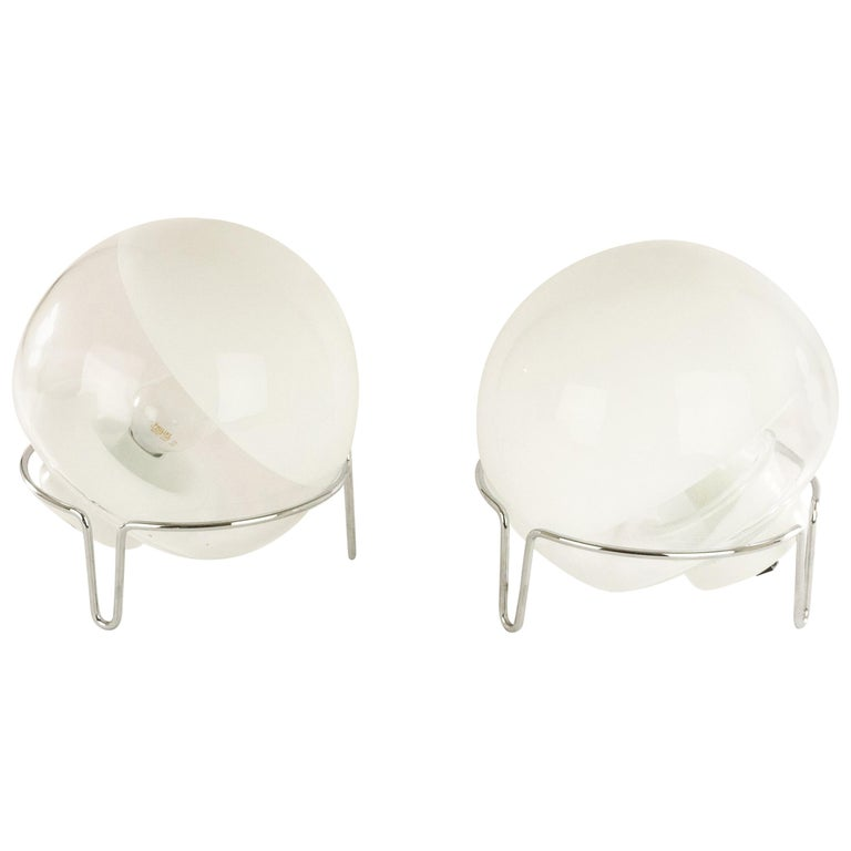 Pair of Table Lamps by Angelo Mangiarotti for Skipper For Sale