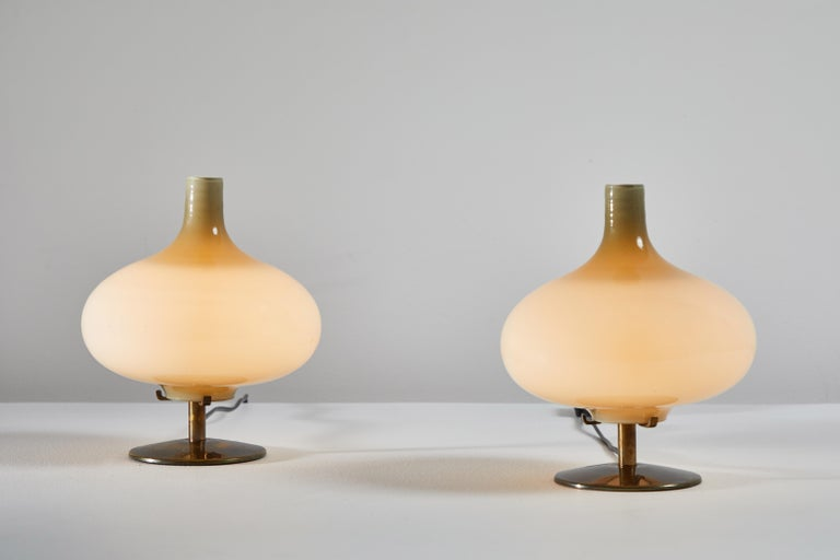 Italian Pair of Table Lamps by Annig Sarian For Sale