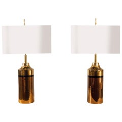 Pair of Table Lamps by Bitossi for Bergboms, Sweden, 1960s