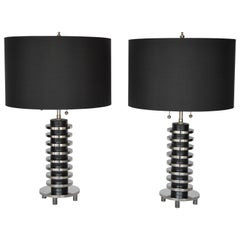 Pair of Table Lamps by Donald Deskey