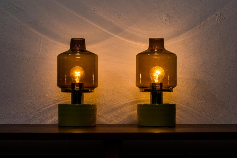 Pair of Table Lamps by Hans Agne Jakobsson, Sweden, 1970s For Sale 1