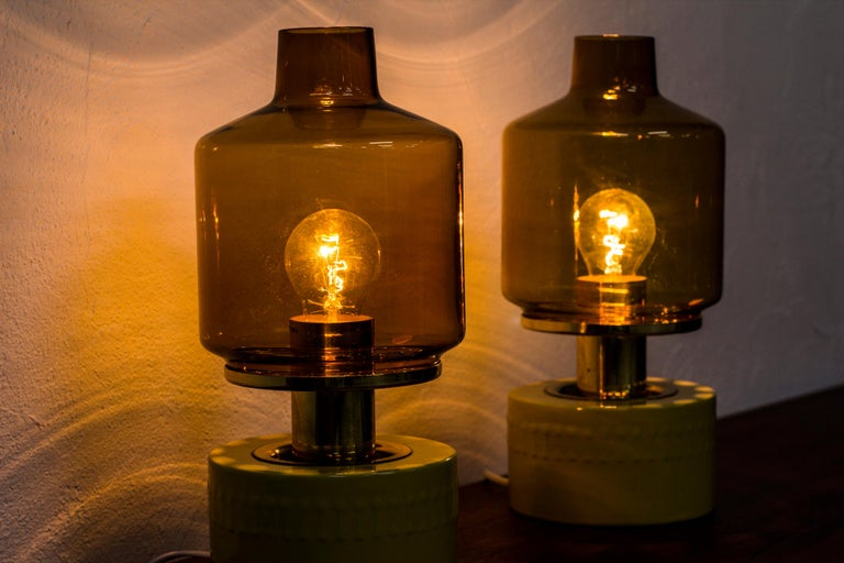 Pair of Table Lamps by Hans Agne Jakobsson, Sweden, 1970s For Sale 2