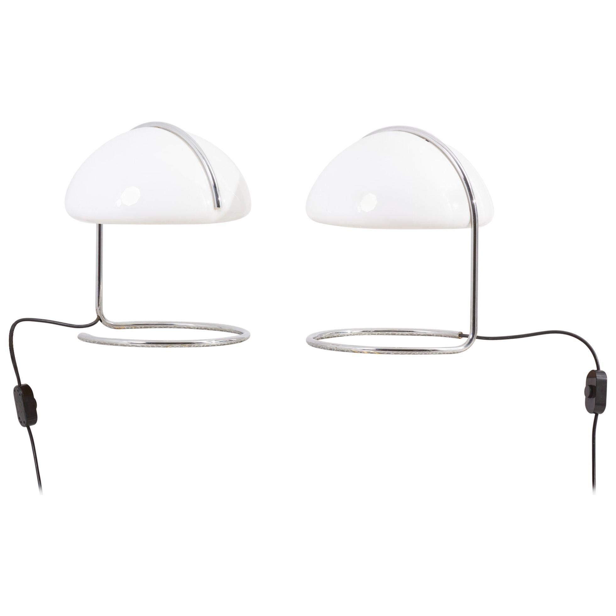 Pair of Table Lamps by Luigi Massoni & Luciano Buttura for Harvey Guzzini, Italy
