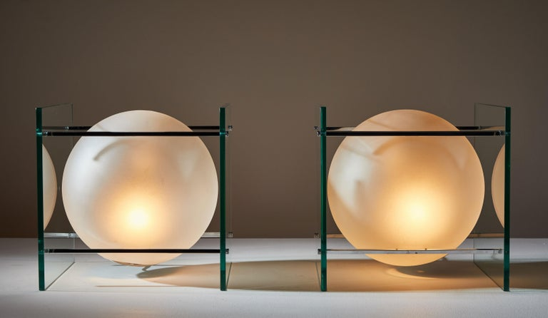 Italian Pair of Table Lamps by Lumi For Sale