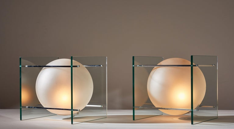 Pair of Table Lamps by Lumi In Good Condition For Sale In Los Angeles, CA
