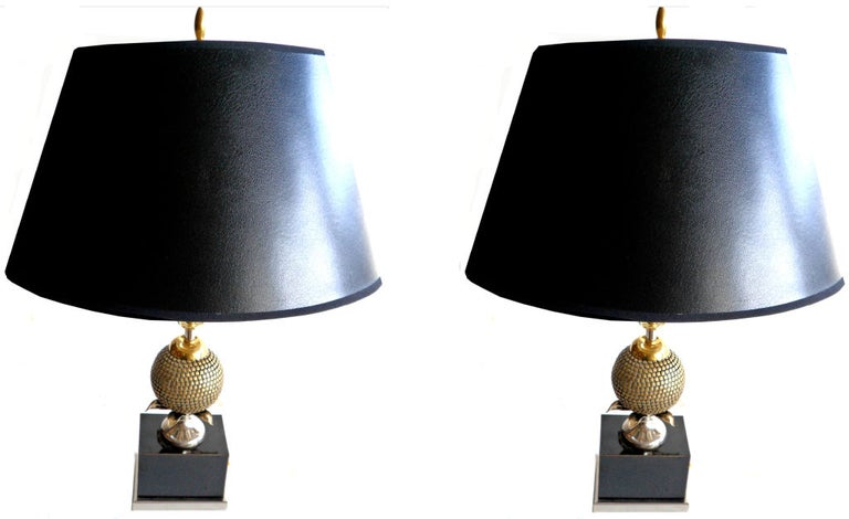 20th Century .Pair of  Table Lamps by Maison Charles
