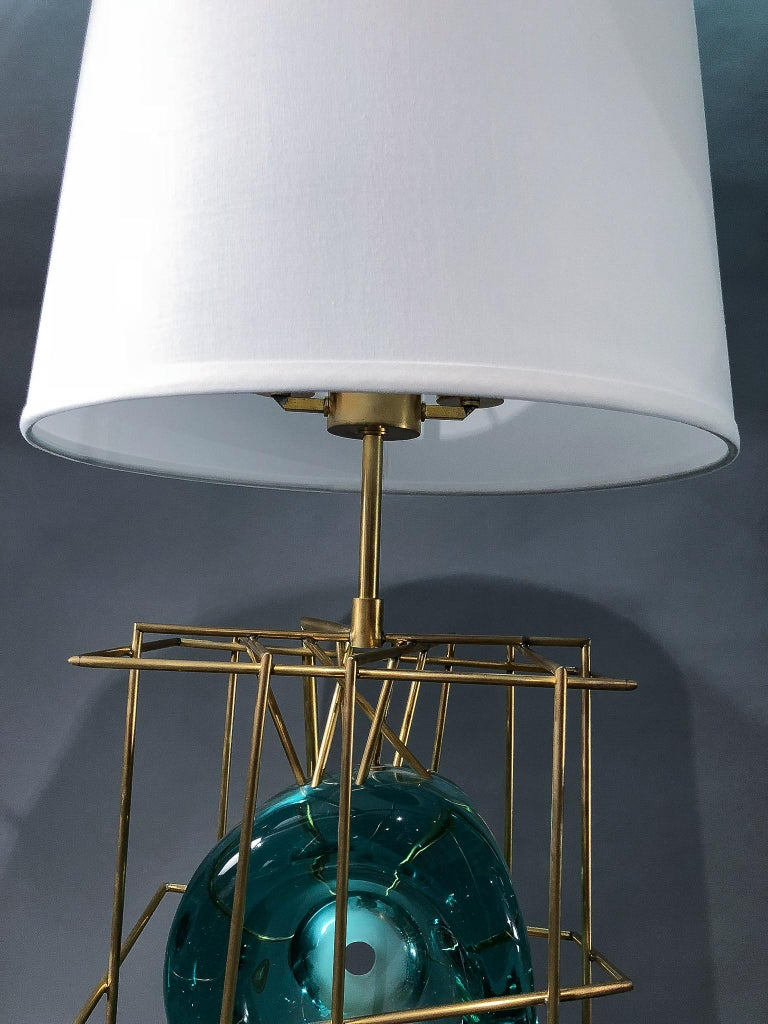 Contemporary Pair of Table Lamps by Roberto Rida, Italy, 2016 For Sale