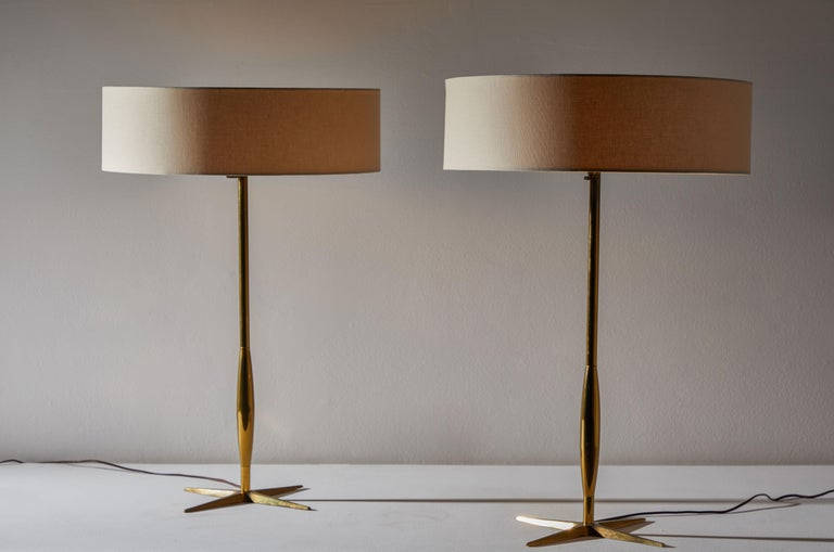 Mid-Century Modern Pair of Table Lamps by Stiffel For Sale