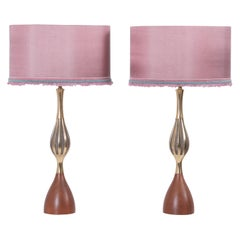 Pair of Table Lamps by Tony Paul for Westwood Lightning, USA, 1960s