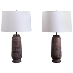 Pair of Table Lamps by Ugo Zaccagnini