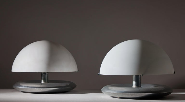 Italian Pair of Table Lamps by Venini For Sale