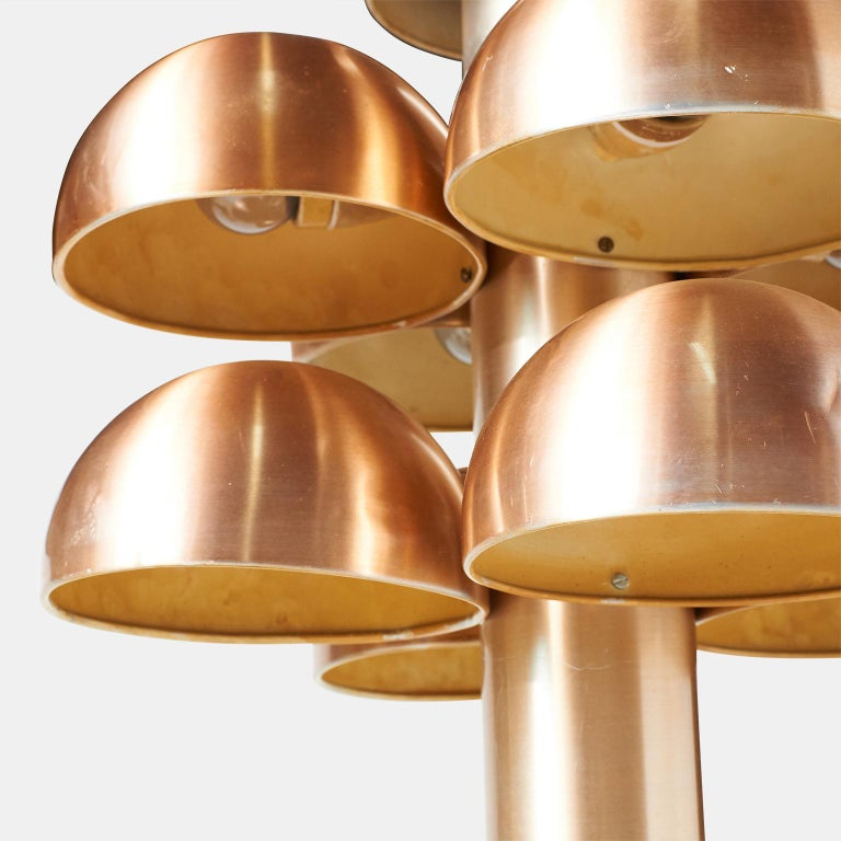 """Anodized Pair of Table Lamps """"Cantharelle"""" by Maija Liisa Komulainen for RAAK For Sale"""
