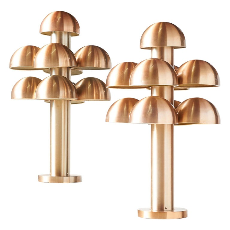 """Pair of Table Lamps """"Cantharelle"""" by Maija Liisa Komulainen for RAAK For Sale"""