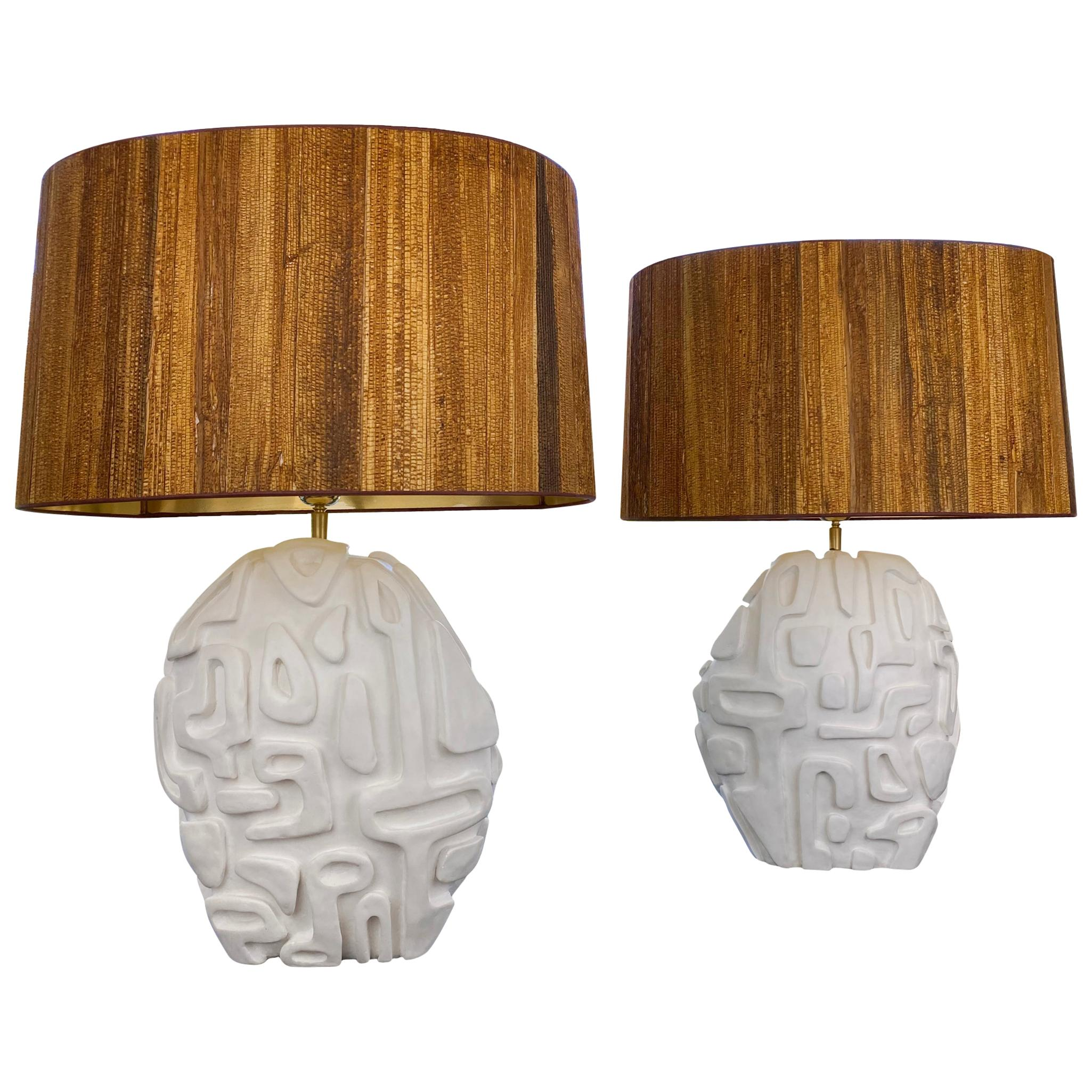Pair of Table Lamps, circa 2020, France