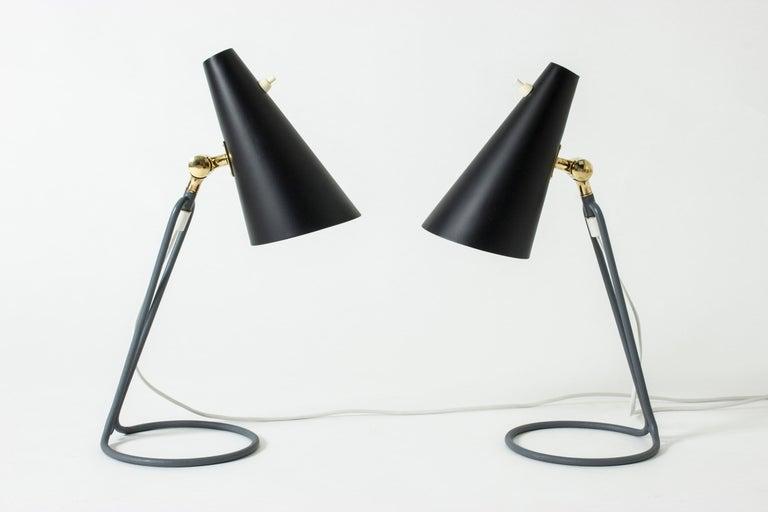 Scandinavian Modern Pair of Table Lamps Designed by Bertil Brisborg for Nordiska Kompaniet, Sweden For Sale