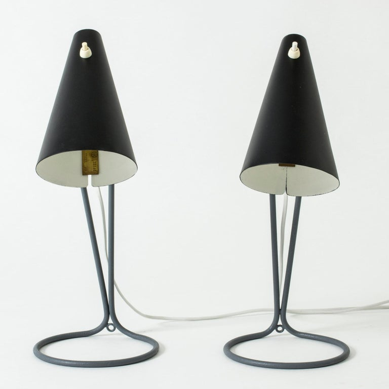 Pair of Table Lamps Designed by Bertil Brisborg for Nordiska Kompaniet, Sweden In Good Condition For Sale In Stockholm, SE
