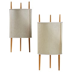 Pair of Table Lamps Designed by Isamu Noguchi for Knoll International, Usa. 194