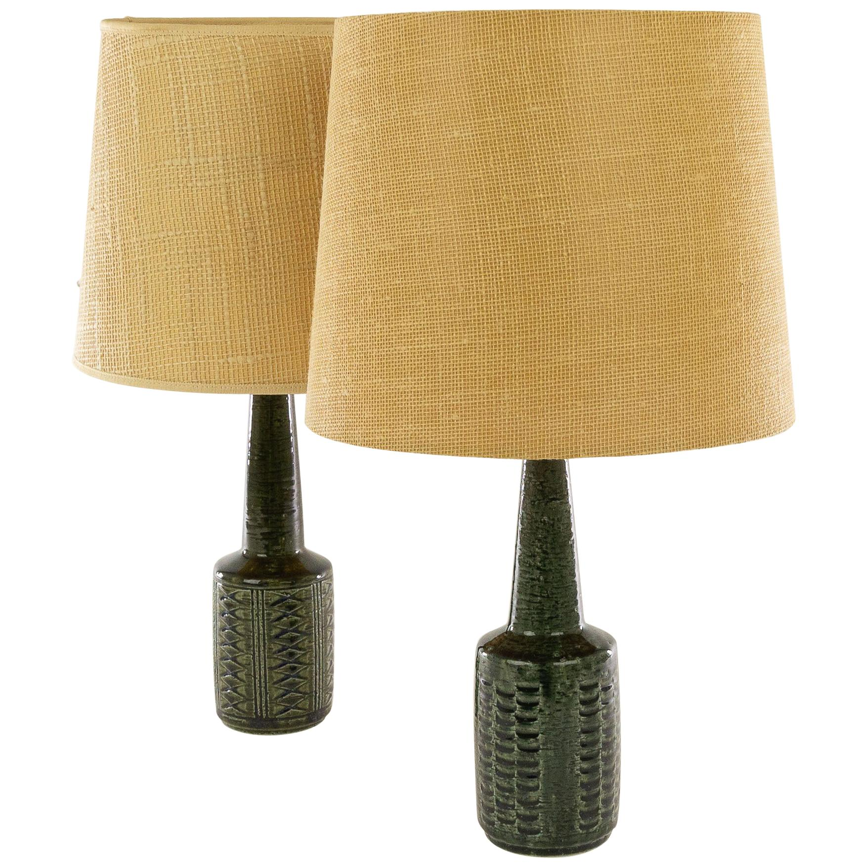 Pair of Table Lamps DL/21 by Annelise & Per Linnemann-Schmidt for Palshus