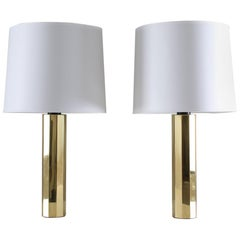 Pair of Table Lamps in Brass